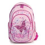 Рюкзак BRAUBERG (БРАУБЕРГ) для учениц начальной школы, розовый, «Бабочка», 25 литров, 45×34×15 см