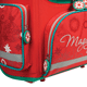 Ранец жесткокаркасный раскладной BRAUBERG (БРАУБЕРГ) для учениц начальной школы, 20 л, красный, одуванчик, 37×29×17 см