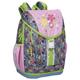 Рюкзак с эрго спиной ERICH KRAUSE для учениц начальной школы, 18 л, серый/<wbr/>розовый, цветочный принт, 36×31×20 см