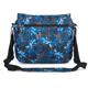 Сумка на ремне BRAUBERG (БРАУБЕРГ) B-HB1526, для старшеклассников/<wbr/>студентов, серая/<wbr/>синяя, «Океан», 37×27×10 см