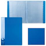 Папка 40 вкладышей БЮРОКРАТ, синяя, 0,65 мм