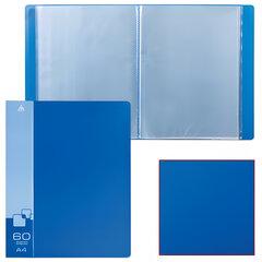 Папка 60 вкладышей БЮРОКРАТ, синяя, 0,7 мм
