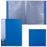 Папка 80 вкладышей БЮРОКРАТ, синяя, 0,8 мм