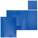 Папка на резинках БЮРОКРАТ, А4, синяя, до 300 листов, 0,5 мм, корешок 30 мм