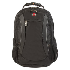 Рюкзак WENGER (Швейцария), универсальный, черно-серый, 40 литров, 33×26×47 см