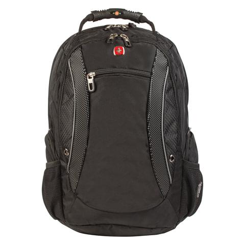 Рюкзак WENGER (Швейцария), универсальный, черно-серый, 40 литров, 33х26х47 см