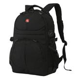 Рюкзак WENGER (Швейцария), универсальный, 22 л, черный, 34×15×47 см