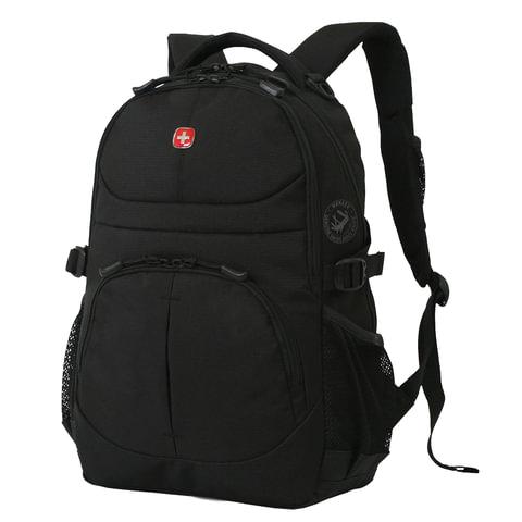 Рюкзак WENGER (Швейцария), универсальный, черный, 22 литра, 34х15х47 см