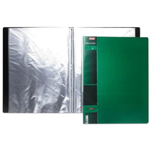 """Папка 20 вкладышей HATBER, """"WOOD-зелёная"""", 0,9 мм, 20AV4 02207"""
