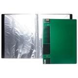 Папка 40 вкладышей HATBER, «WOOD-зелёная», 0,9 мм