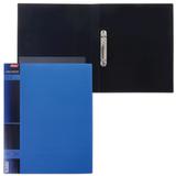 Папка на 2 кольцах HATBER, 25 мм, «WOOD-голубая», до 120 листов, 0,9 мм