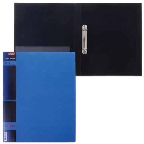 """Папка на 2 кольцах HATBER, 25 мм, """"WOOD-голубая"""", до 120 листов, 0,9 мм, 2AB4 02225"""