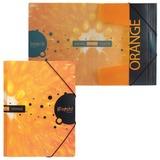 Папка на резинках HATBER HD, А4, «iFRESH-апельсин», до 300 листов, 0,7 мм