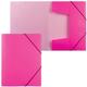 Папка на резинках HATBER HD, А4, «Неоново-розовая», до 300 листов, 0,7 мм