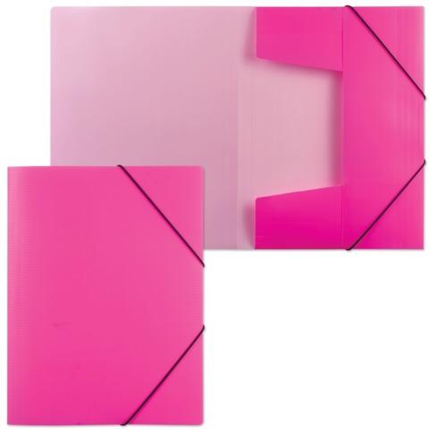 Папка на резинках HATBER HD, А4, «Неоново-розовая», до 300 листов, 0,7 мм, Пк4р 02033