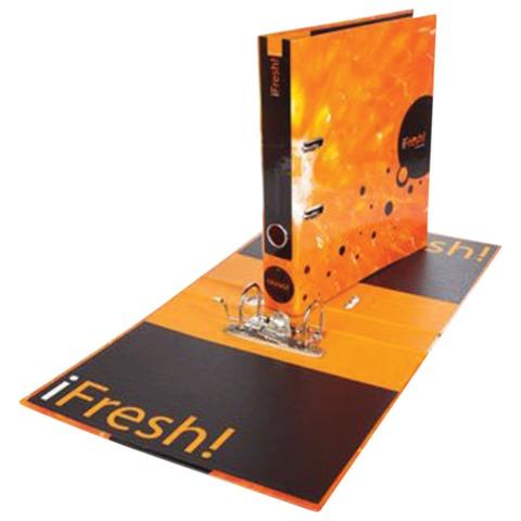 Папка-регистратор HATBER HD, 2-х стороняя запечатка, 50 мм, «IFRESH-апельсин», ПР4 11263