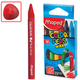Восковые карандаши MAPED (Франция) «Color'peps Wax», 12 цв., трехгранные, картонная упаковка с европодвесом