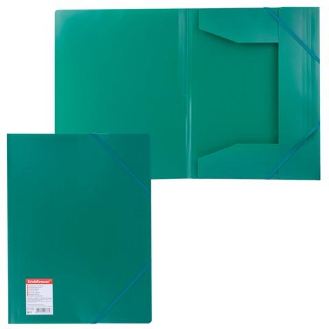 Папка на резинках ERICH KRAUSE «Standard», А4, зеленая, до 300 листов, 0,6 мм
