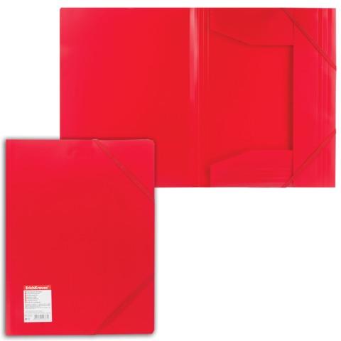 Папка на резинках ERICH KRAUSE «Standard», А4, красная, до 300 листов, 0,6 мм