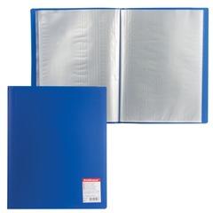 Папка 40 вкладышей ERICH KRAUSE «Standard», А4, вертикальная, синяя, 0,6 мм