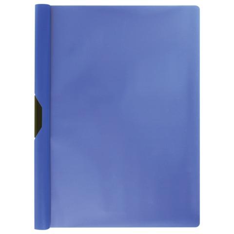 Папка c клипом ERICH KRAUSE «Clipfile», до 30 листов, синяя
