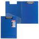 Папка-планшет ERICH KRAUSE «Megapolis», А4, с верхним прижимом и крышкой А4, пластик синий, 1,3 мм