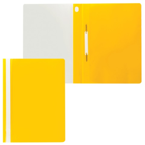 Скоросшиватель пластиковый ERICH KRAUSE, желтый