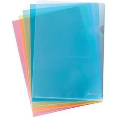 Папки-уголки жесткие ERICH KRAUSE, комплект 10 шт., «L-FILE», ассорти, 0,15 мм