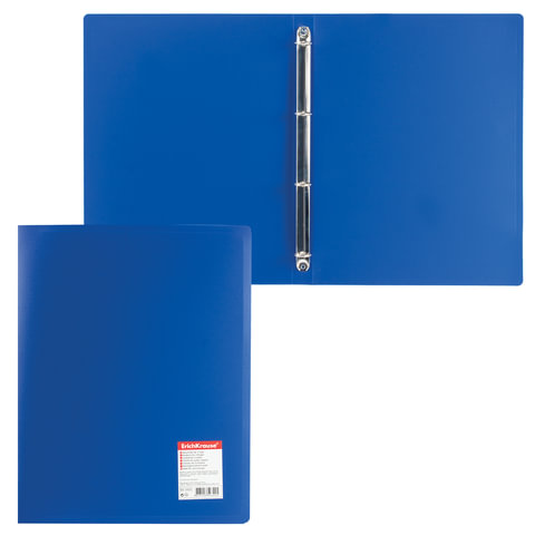 Папка на 4 кольцах ERICH KRAUSE «Standard», 24 мм, синяя, 0,5 мм