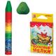 Восковые мелки ЛУЧ «Кроха», 6 цветов, на масляной основе, трехгранные, картонная упаковка с европодвесом