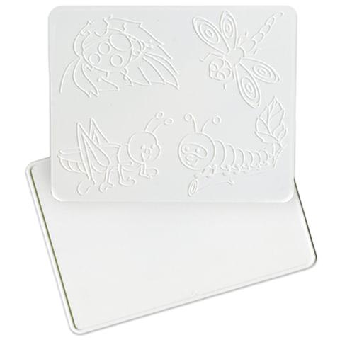 Доска для работы с пластилином ЛУЧ, 205×165 мм, белая, с рельефным трафаретом