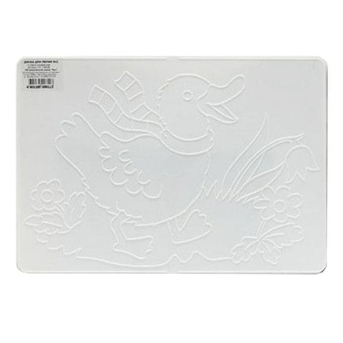 Доска для работы с пластилином ЛУЧ, А4, 297×210 мм, белая, с рельефным трафаретом