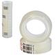 Клейкие ленты 12 мм х 10 м канцелярские ЛУЧ, комплект 12 шт., прозрачные, гарантированная длина
