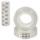 Клейкие ленты 12 мм х 30 м канцелярские ЛУЧ, комплект 12 шт., прозрачные, гарантированная длина