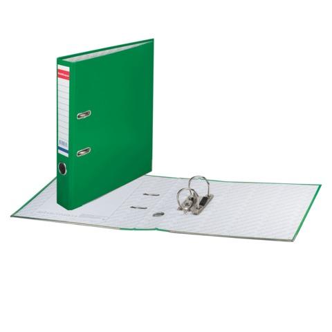 """Папка-регистратор ERICH KRAUSE """"Стандарт"""", с покрытием из ПВХ, 50 мм, зеленая"""