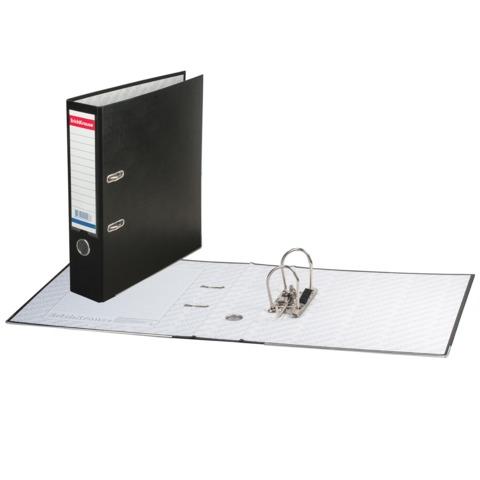 """Папка-регистратор ERICH KRAUSE """"Бизнес"""", с покрытием из ПВХ, 70 мм, черная"""