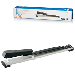 Степлер KW-trio брошюровочный №24/<wbr/>6-26/<wbr/>6, до 20 листов, глубина захвата до 317 мм, серый/<wbr/>черный