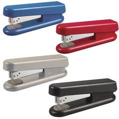 Степлер KW-trio №24/<wbr/>6, до 30 листов, эргономичный, ассорти (черный, синий, красный, светло-серый)