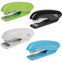 Степлер KW-trio «Dolphin Half-strip», №24/<wbr/>6, до 20 листов, ассорти (черный, голубой, зеленый, белый)