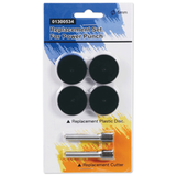 Сменные запасные части для дырокола KW-trio 9550, комплект 2 ножа и 4 пластиковых диска, блистер