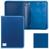 Папка на молнии пластиковая BRAUBERG «Contract» (БРАУБЕРГ «Контракт»), А4, 335×242 мм, внутренний карман, синяя