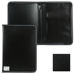 Папка на молнии пластиковая BRAUBERG «Contract», А4, 335×242 мм, внутренний карман, черная