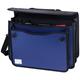 Портфель пластиковый BRAUBERG (БРАУБЕРГ), А4+, 370×270×180 мм, на 2-х замках и ремне, бизнес-класс, 3 отделения, синий/<wbr/>черный