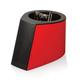 Скрепочница магнитная ОФИСМАГ с 30 скрепками, стильный корпус, красно-черная