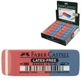 Резинка стирательная FABER-CASTELL «7070», для карандашей и чернил, каучук, 50×18×8 мм, красно-синяя