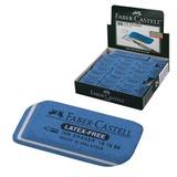 Резинка стирательная FABER-CASTELL «7016», для туши и чернил, каучук, 34×14×8 мм, синий