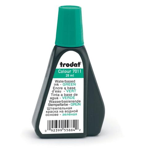 Краска штемпельная TRODAT, зеленая, 28 мл, на водной основе