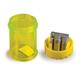 Точилка LACO (ЛАКО, Германия), 2 отверстия, с пластиковым контейнером, 4 цвета (синий, жёлтый, зелёный, красный)