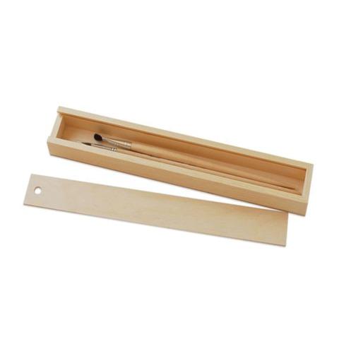 Пенал для кистей «Сонет», деревянный, сосна, 35×5×3 см