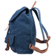 Рюкзак BRAUBERG (БРАУБЕРГ) W-161 для старшеклассников/<wbr/>студентов, 22 л, холщовый, искусств.кожа, универсальный, «Синий», 38×13×43см
